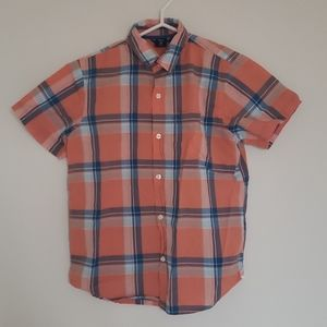 GapKids Orange striped button up shirt